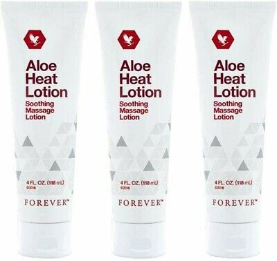 £30.99 • Buy ✨3 ✖ Forever Living Aloe Heat Lotion Soothing Massage Lotion 118ml Original 💥