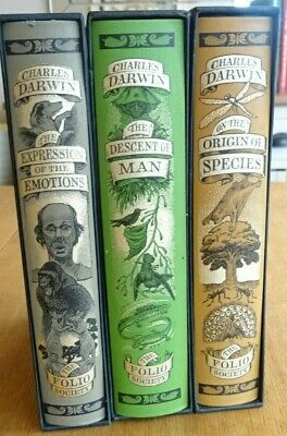 £30 • Buy The Folio Society , Limited Edition. Three Books By Charles Darwin.