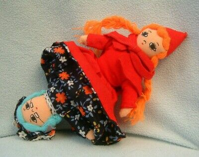 £9.99 • Buy 3 In 1 Topsy Turvy Little Red Riding Hood Grandma Wolf Story Cloth Doll - 8
