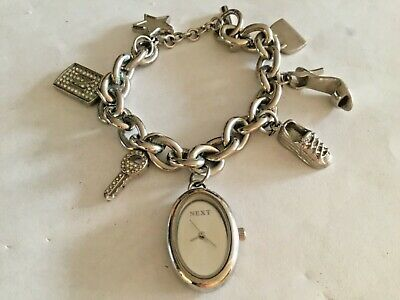 £10 • Buy NEXT Ladies  Charm Bracelet Watch With New Battery. VGC