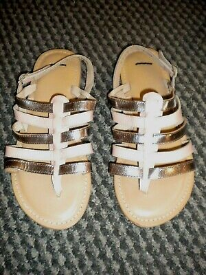£2.99 • Buy Asos Blush & Silver Leather Strappy Gladiator Sandals Size 3 New