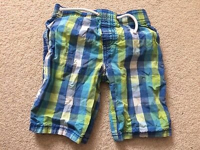 £2.99 • Buy Boys Checked Shorts Aged 3-4 Years