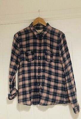 £2 • Buy hollister Blue Red White Checked Plaid Shirt Casual Top Large L Lumberjack