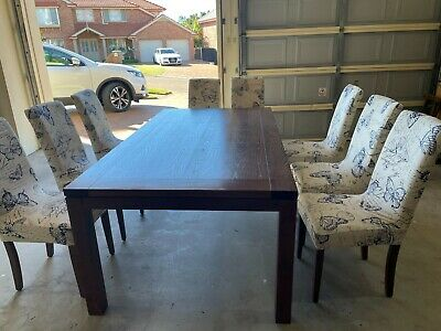 AU20 • Buy Dining Suite 8 Seater Timber Table And Chairs