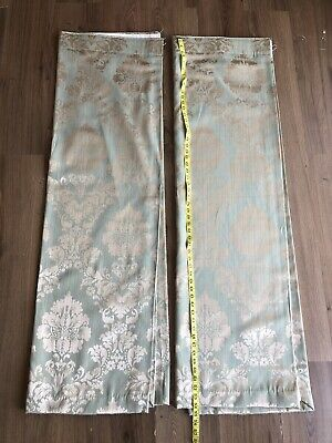 £24.99 • Buy Dunelm Mill Composition Curtains Green & Gold W 63 L 54 Pls Look At Photos