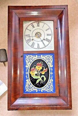 £35 • Buy Antique Victorian American Walnut Cased Jerome Mechanical Drop Dial Wall Clock