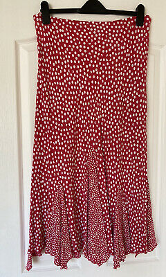 £2.50 • Buy Ladies Red-and White Polka Dot Skirt Size 16. By Per Una