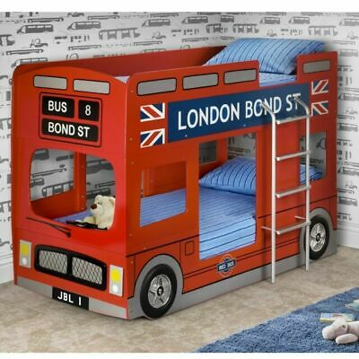 £454.90 • Buy Julian Bowen London Bus 3FT Bunk Bed - Red Lacquered Finish