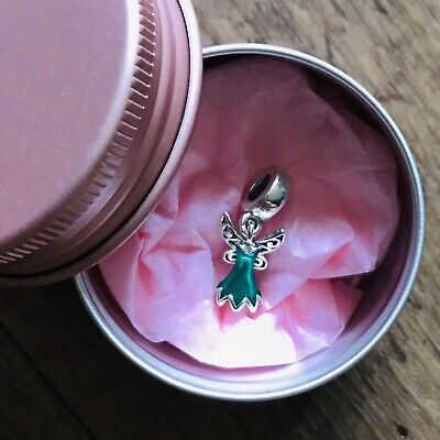 £8.50 • Buy Disney 925 Sterling Silver TinkerBell Dress Charm With Gift Tin.... LAST ONE