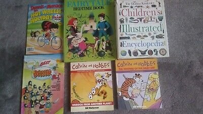 £5 • Buy 2 Calvin And Hobbes Books And 2 Comics And 2 Large/thick Childrens Books