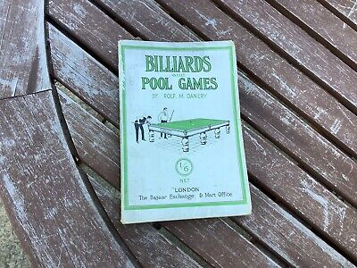 £31 • Buy BILLIARDS And POOL GAMES By Rolf M.Danery 1st From 1922