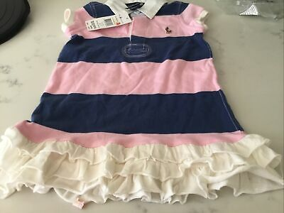 £16 • Buy Girls Ralph Lauren Dress Age 2 Authentic BNWT NEW Ruffle Rugby  Striped Polo £59
