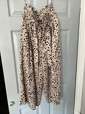£4.99 • Buy River Island Leopard Print Culottes Trousers Size 12