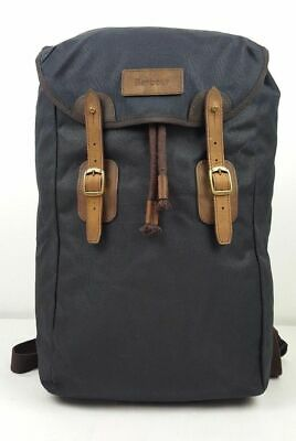 £139 • Buy BNWT Barbour Waxed Canvas And Leather Backpack (RRP £149) In Navy