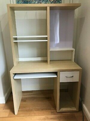 £0.99 • Buy Computer Desk & Shelving Unit With Magnetic Whiteboard And Shelves - Ikea Mikael