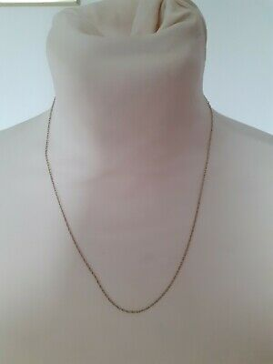 £28 • Buy 9ct Solid Gold Trace Rope Chain 18 Inch Hallmarked