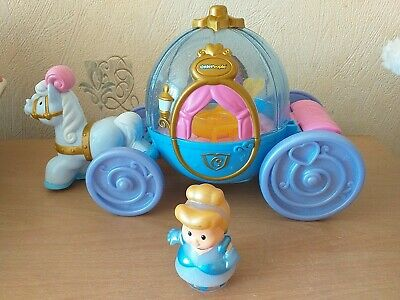 £3.50 • Buy Fisher Price Little People Disney Cinderella'& Coach With Lights And Sounds