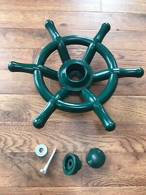 £10 • Buy NEW Pirate Ship Steering Wheel Green 35cm Climbing Frame-Tree House -Play House