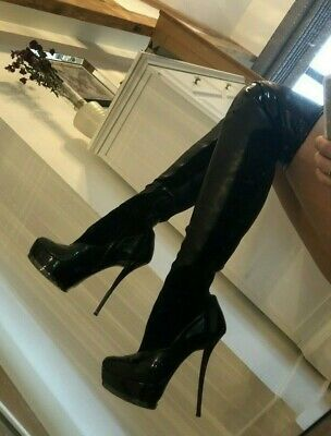 £51 • Buy Genuine Gucci Platform Stiletto Over The Knee Thigh Boots Black 36 UK3