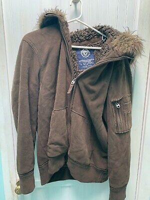 £42.58 • Buy American Eagle Outfitters AE Fur Lined Hooded JACKET COAT Mens Size XL / TG