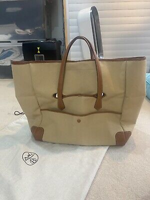 AU1474.04 • Buy Hermes Large Fabric Tote Bag With Leather Trim