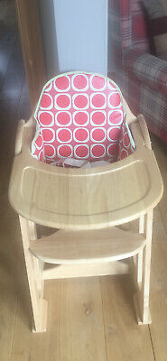 £75 • Buy East Coast High Chair With Watermelon Cushioned Insert