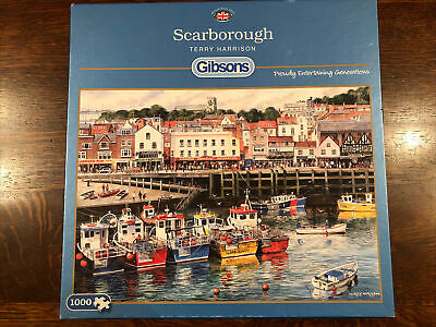 £2.99 • Buy Gibsons Jigsaw Puzzle 1000 Pieces Scarborough Seaside Resort Harbour