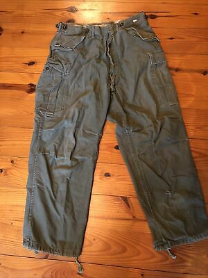 $18.99 • Buy 1940s-1970s Army OD M65 Pants With Drawstring Bottoms Worn