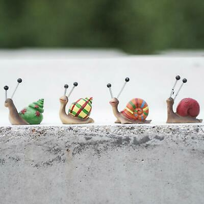 £7.90 • Buy Snail Figurines, 4 Brightly Coloured Snail's Shells, Miniature Garden  Ornaments