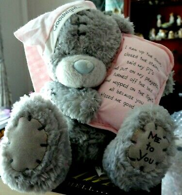 £6.50 • Buy  Me To You  Bears - Goodnight Bear With Pillow & No.9087 Small Just 4 You Bear.