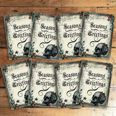 £3.20 • Buy Gothic Skull Christmas Card Toppers Present Labels Party Decor Holiday Cards