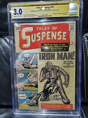 £16999.99 • Buy Tales Of Suspense #39 Cgc (3.0) Cr Off White 1st Ironman Sig By Lee And Lieber