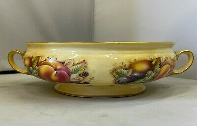 £59.99 • Buy Aynsley Orchard Gold Handled Vegetable Serving Tureen Base - EXCELLENT CONDITION