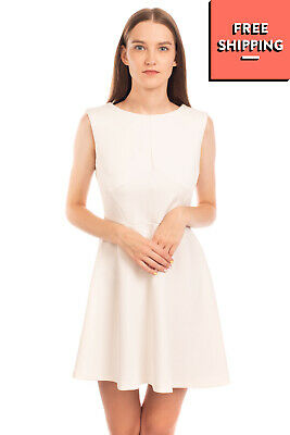 AU4.05 • Buy EMMA BRENDON Fit & Flare Dress Dress Size 46 / L Unlined Crew Neck Made In Italy