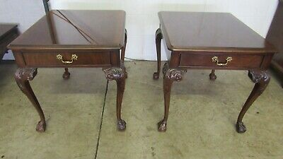 $825 • Buy Drexel Chippendale End Tables Side Mahogany Claw Feet