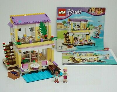 £20 • Buy Lego Friends (41037) 'Stephanie's Beach House' - Mostly Complete, Retired Set