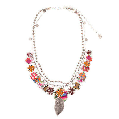 £21 • Buy RRP €310 AYALA BAR Layered Chain Necklace Patterned Charms Lobster Clasp