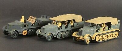 £20 • Buy 1/76 Scale Built And Painted Airfix Sd. Kfz. 7 Set Of 3  For Repair Spares