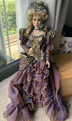 £9.99 • Buy Princess Alexandria Houses Of Faberge Porcelain Doll Glass Eyes VTG Collectable