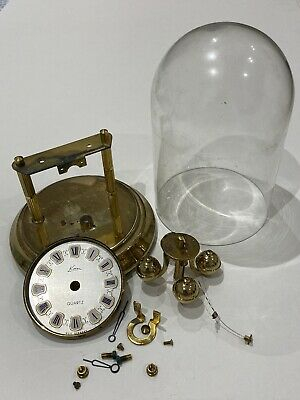 """£14.99 • Buy Parts For A 400 Day Anniversay German Glass Dome Clock """"KERN"""" Sold As Seen"""