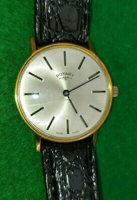 £27.99 • Buy Vintage Rotary 17 Jewel Manual Wind-gold Plated