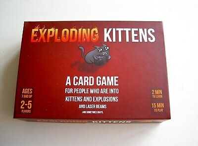 AU14.74 • Buy #856 Exploding Kittens Card Game Boxed Complete