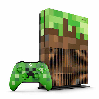 AU399 • Buy Xbox One S 1TB Limited Edition Minecraft Console (Premium Refurbished By EB Game