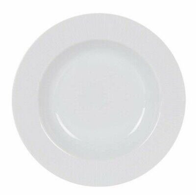 £9.95 • Buy 6x Europa SUPER WHITE Porcelain Round SOUP PLATE Pasta Plate 22CM