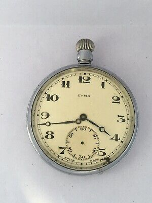 £32 • Buy Antique Silver Plated Cyma Pocket Watch For Spares Or Repair