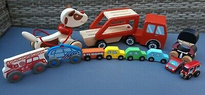 £12.95 • Buy Wooden Mixed Toys Bundle Cars/Lorry/Bus Dog/Truck Etc
