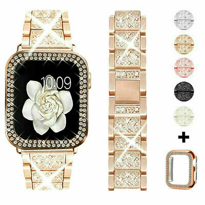 AU18.99 • Buy Bling IWatch Strap Case For Apple Watch Band Series 6 5 4 3 2 1 SE 38 40 42 44mm