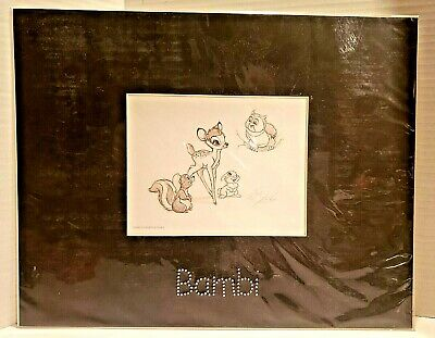 £43.51 • Buy Disney Swarovski Exclusive Bambi Lithograph Signed By Disney Artist Dave Pacheco