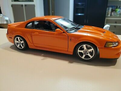 $60 • Buy 1/18 Maisto Diecast Model 2003 Ford Mustang SVT Cobra Special Competition Orange
