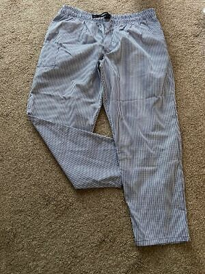 £15 • Buy A Brand New Le-chef Blue Check, Chefs Trouser With Drawstring Size Large